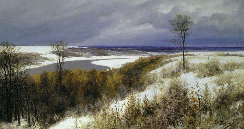 Первый снег, Василий Поленов